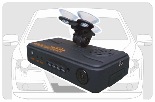 Vehicle Video Recorder front & back cameras record synchronously